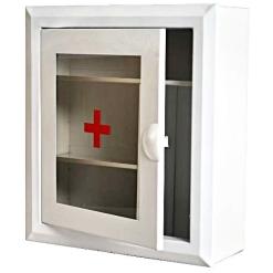 Шкаф аптечка АМ-1 Аптечка-3 (400х360х140) стекло