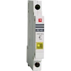 Лампа сигнальная ЛС-47 (желтая) EKF