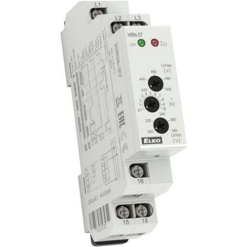 Реле контроля напряжения в 3х фазных сетях HRN-57N