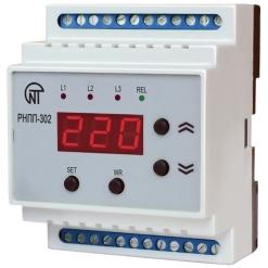 Трехфазное реле напряжения и контроля фаз РНПП-302, 8 А