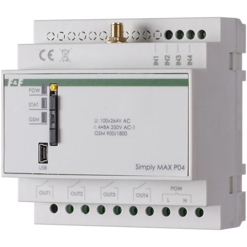 Реле дистанционного управления по GSM SIMply MAX P04